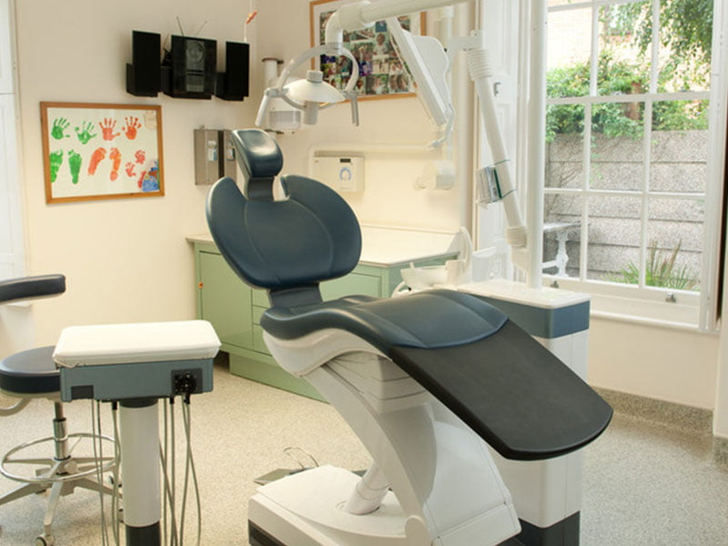 dental chair in surgery