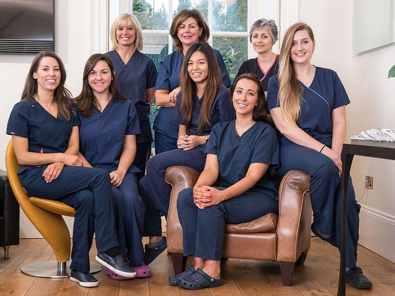 nurses and therapists team photograph