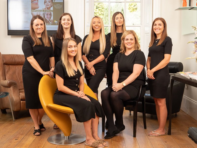 Rhiwbina dental team photograph within the practice