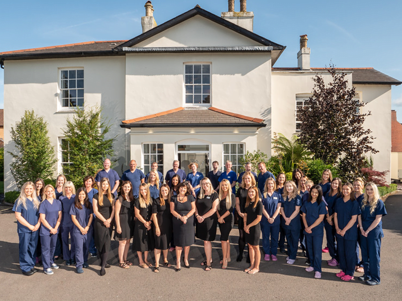rhiwbina dental staff team photograph outside the practice